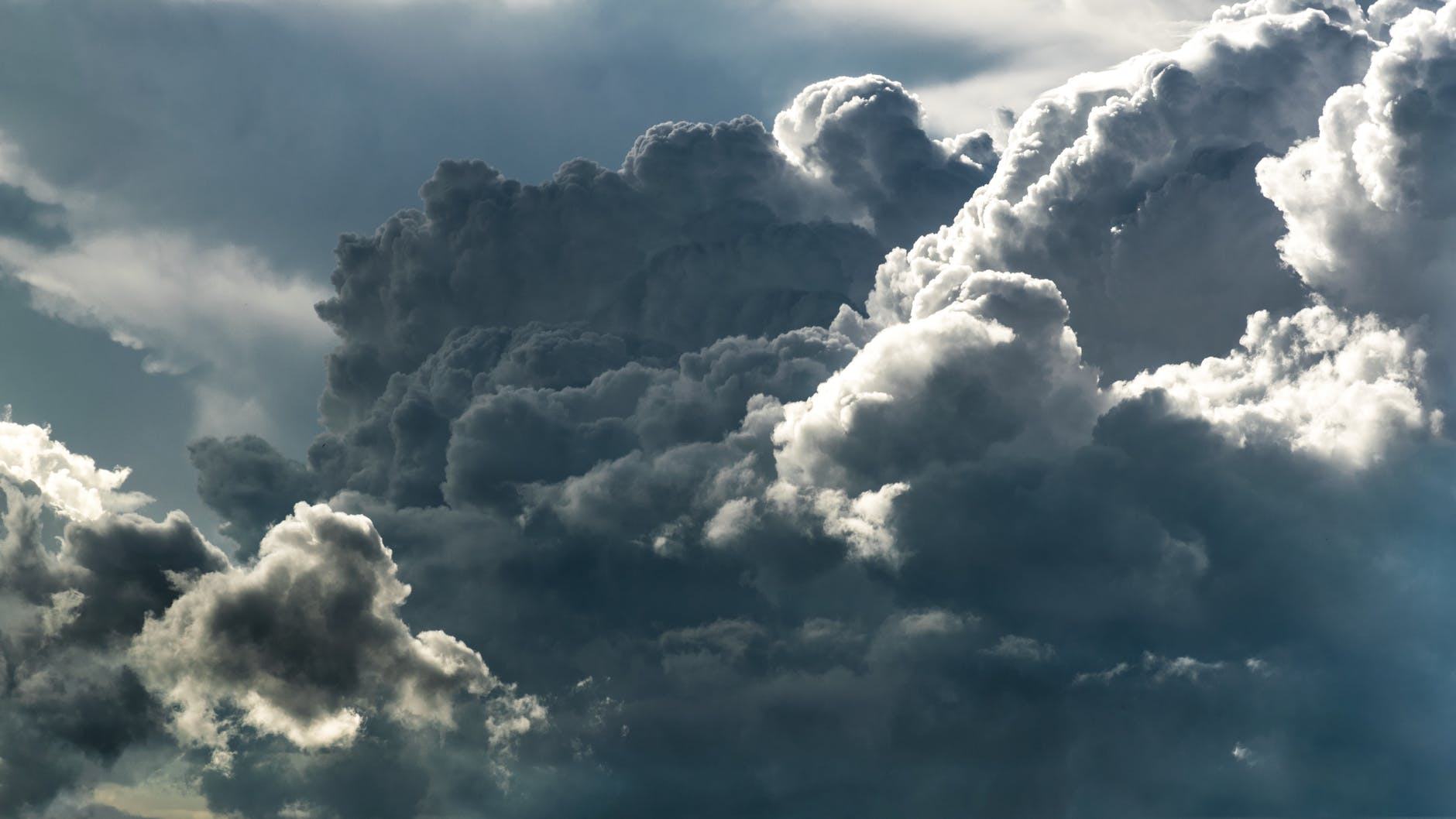 grey white clouds